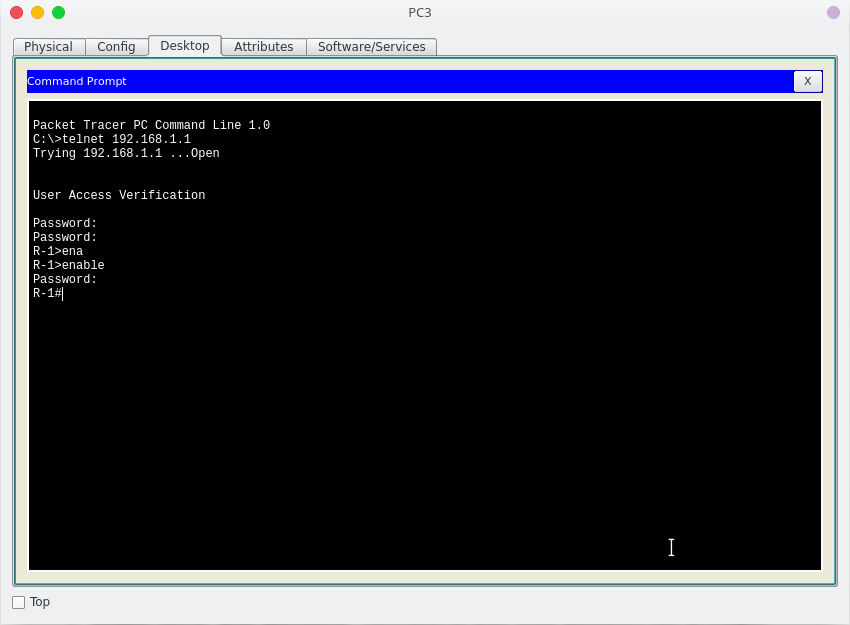Get to command prompt